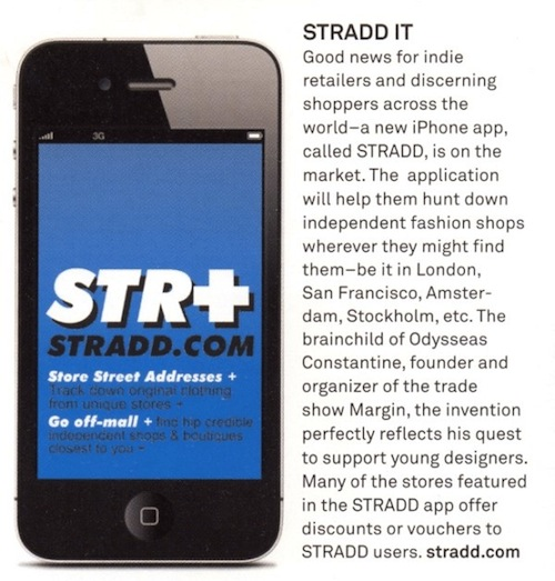 Sportswear International Magazine feature Stradd App