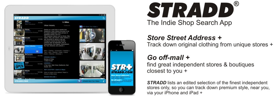 Stradd + The indie shop search app for iPhone & iPad
