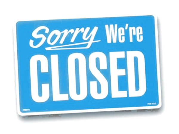 closed ShopSign